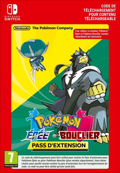 Code de téléchargement Pokémon Epée et Bouclier Pass d'extension Nintendo Switch