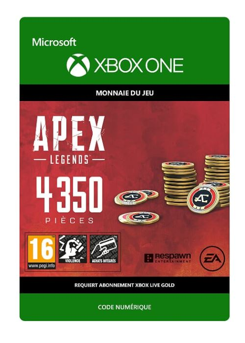 Code de téléchargement APEX Legends: 4350 Coins Xbox One