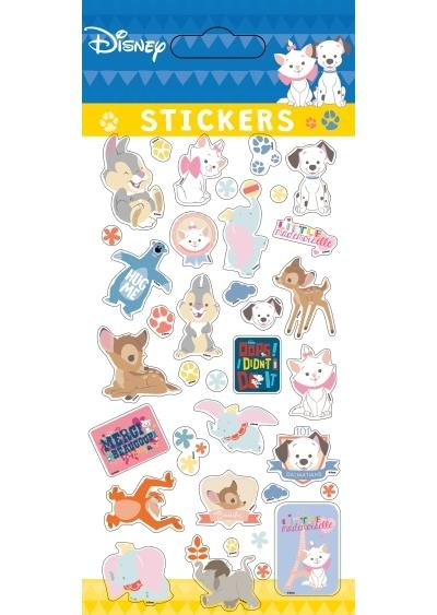 Classique Animaux, STICKERS SHEETS RETRO PUFFY