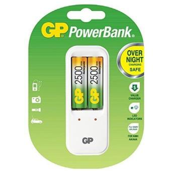 Chargeur GP PowerBank PB410 pour AA et AAA 230V + 2 Accus AA