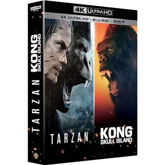 King KongCoffret Kong : Skull Island Tarzan Blu-ray 4K Ultra HD