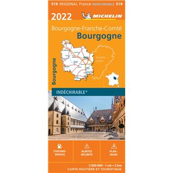 Carte De Bourgogne Michelin.Carte Bourgogne 2019 Echelle 1 200 000 Broche Michelin Achat