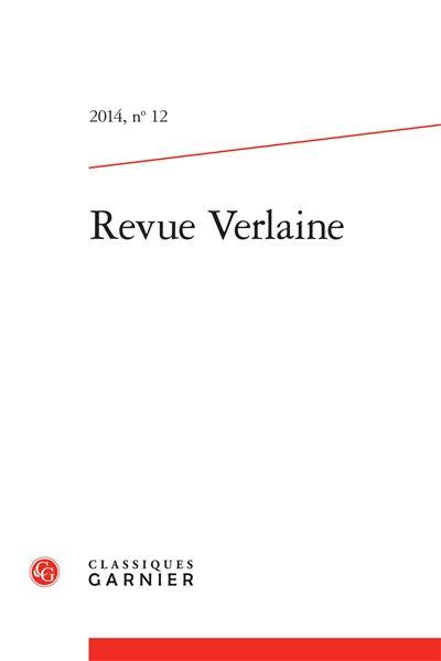 Revue verlaine 2014, n° 12 - varia