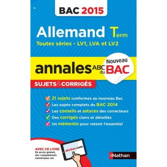 annales bac allemand