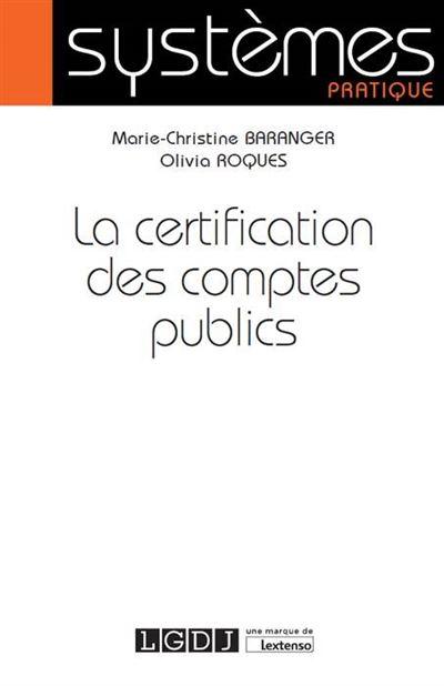 La certification des comptes public