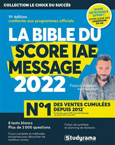 La bible du score IAE message 2021