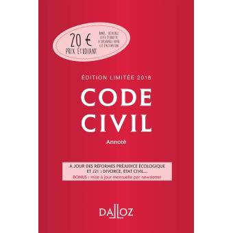code civil 2018 annot dition limit e 117 me dition broch collectif achat livre fnac. Black Bedroom Furniture Sets. Home Design Ideas