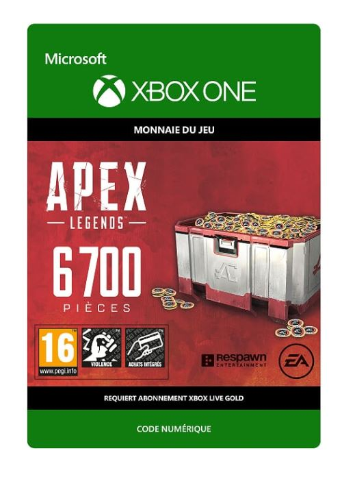 Code de téléchargement APEX Legends: 6700 Coins Xbox One