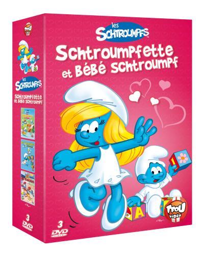 Allo, Schtroumpfs ici bébé - Le bébé Schtroumpf - Les bêtises Coffret 3 DVD