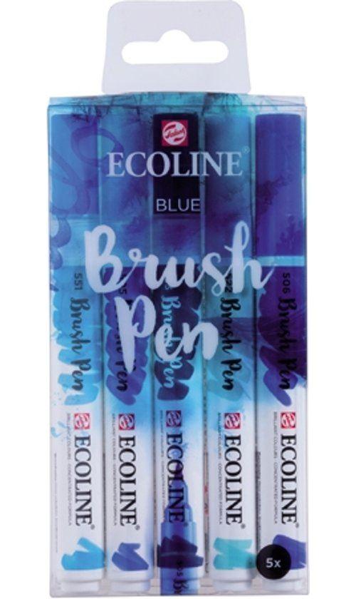 TALENS ECOLINE BRUSHPEN X5 BLUE
