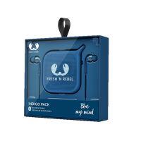 Fresh 'N Rebel Gift Pack III Pebble Bluetooth Speaker + Oortelefoons Indigo