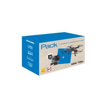 GoPro Hero + LCD + Drone R'Bird Black Master DMS240 - Black