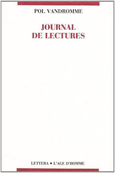 Journal de lectures