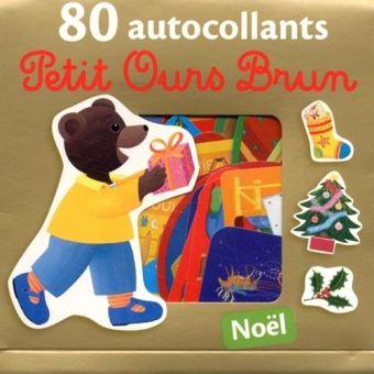 Joyeux Noel Petit Ours Brun.Petit Ours Brun Noel 80 Autocollants Petit Ours Brun