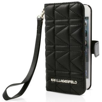Etui Karl Lagerfeld pour iPhone 5 5s Matelae Noir
