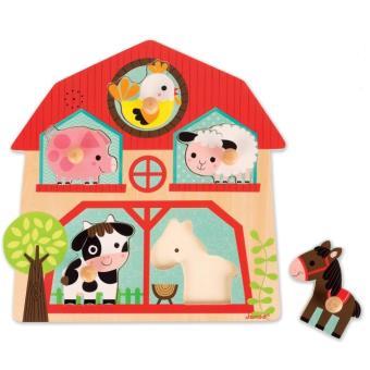 Puzzle musical Janod Les copains de la ferme