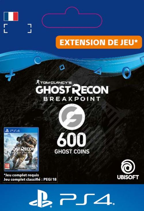 Code de téléchargement Ghost Recon Breakpoint 600 Ghost Coins PS4