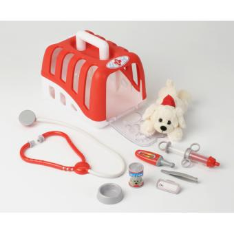 Set vétérinaire avec chien, cage et accessoires Klein