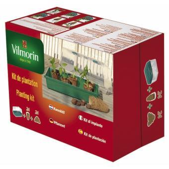 Kit de plantation serre rigide à 24 godets + pastilles en fibre de coco Vilmorin