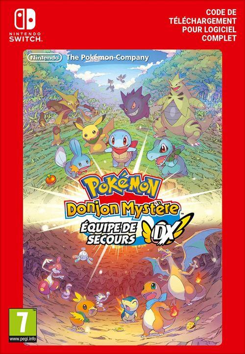 Code de téléchargement Pokémon Donjon Mystère Equipe de Secours DX Nintendo Switch