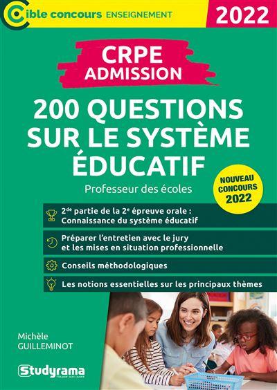 CRPE 200 questions sur le système éducatif 2020