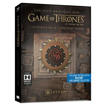 Le trône de ferGame Of Thrones Saison 5 Steelbook Blu-ray Inclus un magnet Collector
