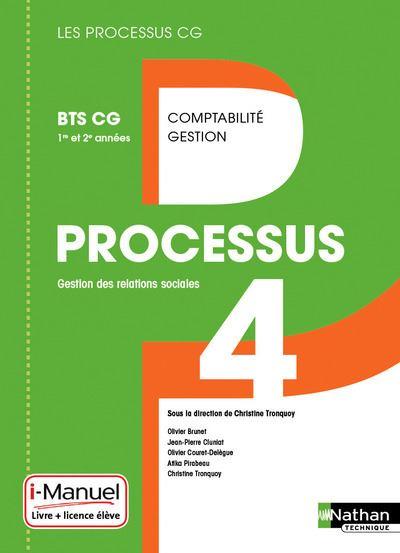 Processus 4 BTS CG 1ère et 2ème années livre + licence élève (les processus CG) - 2016