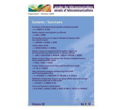 Annales des telecommunications vol. 60 n. 9/10 september-oct