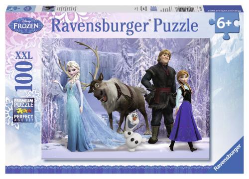 Puzzle 100 pièces XXL Ravensburger Dans le royaume de La Reine des Neiges Disney Frozen