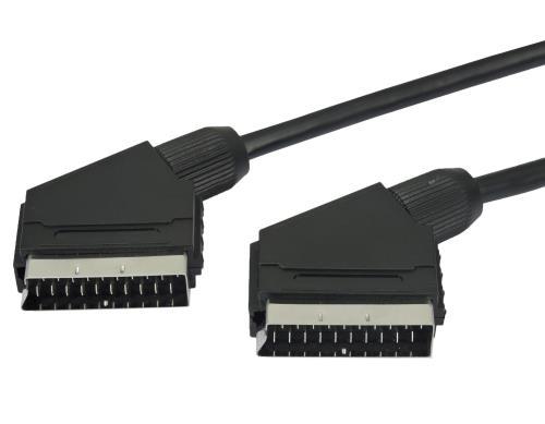 Câble péritel Temium 1.5 m Noir