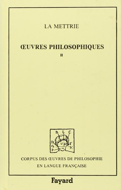 Oeuvres philosophiques (1737-1752)