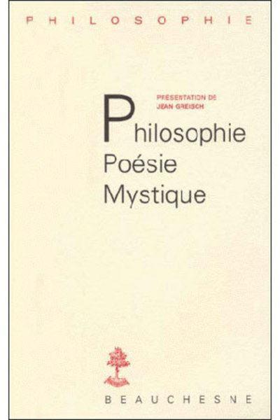 Philosophie, poesie, mystique