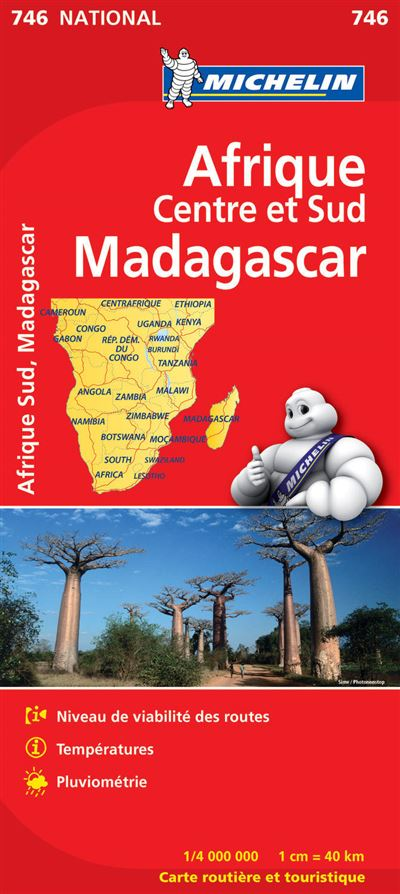 Carte Routiere Afrique Du Sud Fnac.Carte Afrique Centre Et Sud Madagascar Michelin