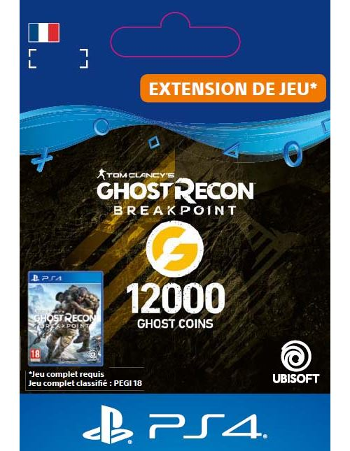 Code de téléchargement Ghost Recon Breakpoint 12000 Ghost Coins PS4