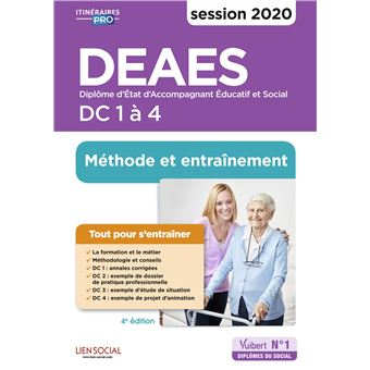 DEAES, DC 1 à 4, méthode et entraînement Sessions 2018