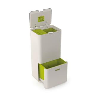 poubelle tri s lectif joseph joseph totem 60 l blanc pierre fnac. Black Bedroom Furniture Sets. Home Design Ideas