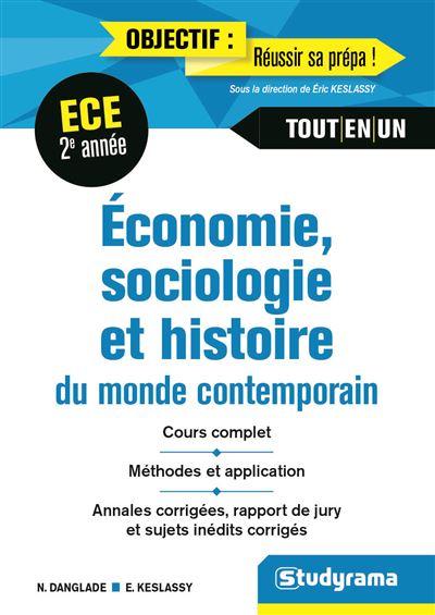Economie, sociologie, histoire du monde contemporain 2e année ECE