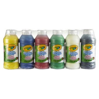 Bo te 6 bouteilles de peinture lavable crayola crayola for Peinture lavable