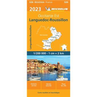 Carte Languedoc Roussillon.Carte Languedoc Roussilon Michelin 2019 Echelle 1 200 000 Broche