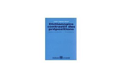Dictionnaire contrastif des prépositions