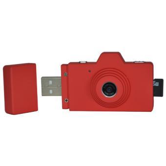 Clé USB Halterrego Zenith camera Rouge + Carte SD 2 Go