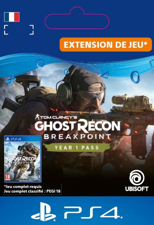Code de téléchargement Ghost Recon Breakpoint Year 1 Pass PS4