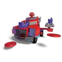 Camion lanceur de disques Optimus Prime Transformers Majorette 28cm