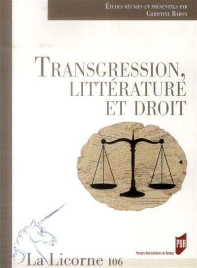 Transgression litterature et droit