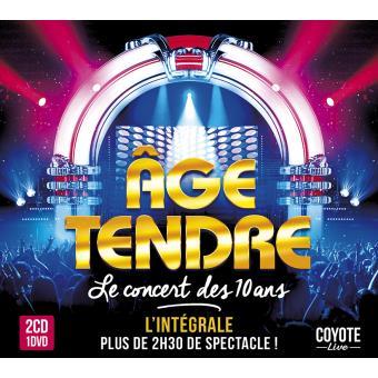 Âge Tendre Le concert des 10 ans Coffret Inclus DVD