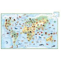 Djeco Les Animaux du Monde Puzzle 100 pcs