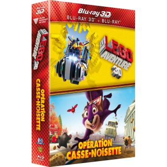 LEGOCoffret La grande aventure LEGO + Opération Casse-noisette Combo Blu-ray 3D + Blu-ray 2D