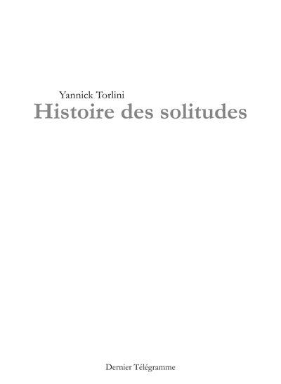 Histoire des solitudes