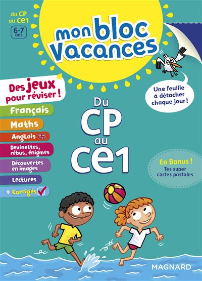Mon Bloc Vacances Du CP au CE1