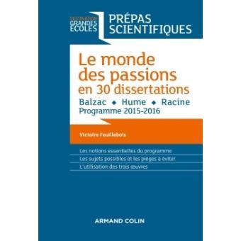 dissertation sur les passions hume prepa